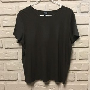 Eileen Fisher Olive Green Short Sleeve T-shirt